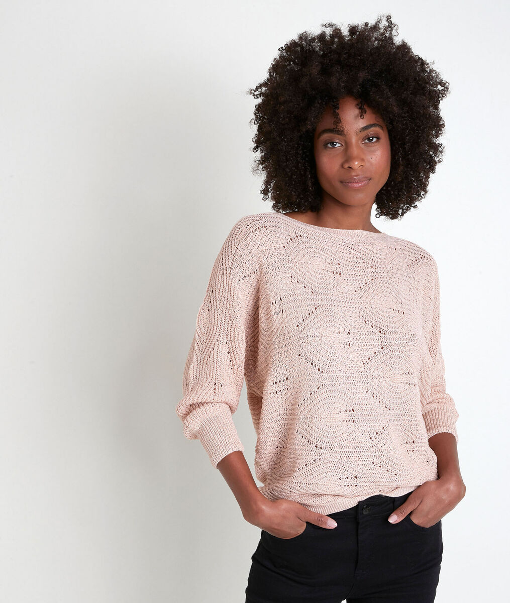 Pull ajouré rose Amy PhotoZ | 1-2-3