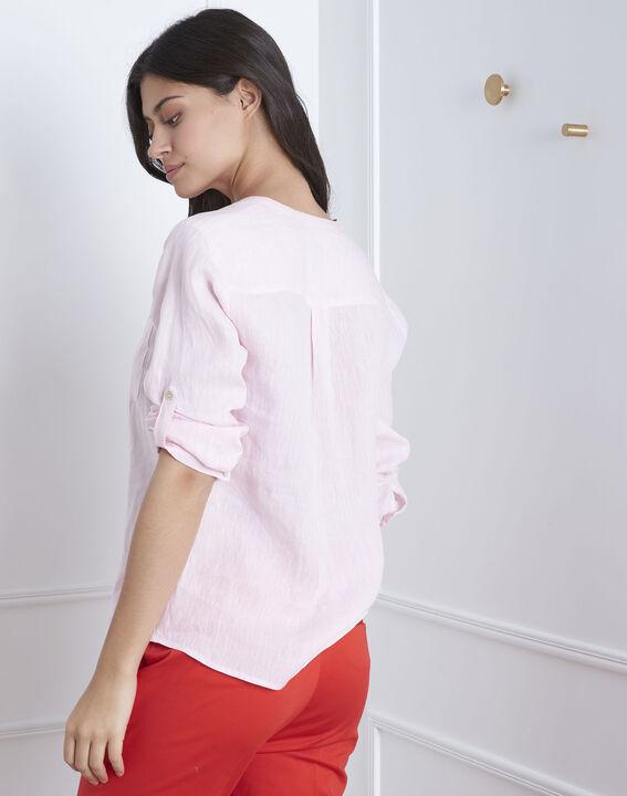 Roze hemd van linnen Roma (4) - Maison 123