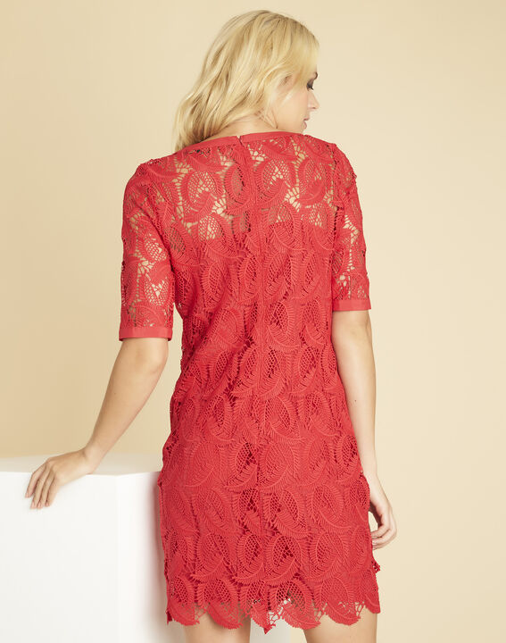 Iska red lace dress (4) - 1-2-3