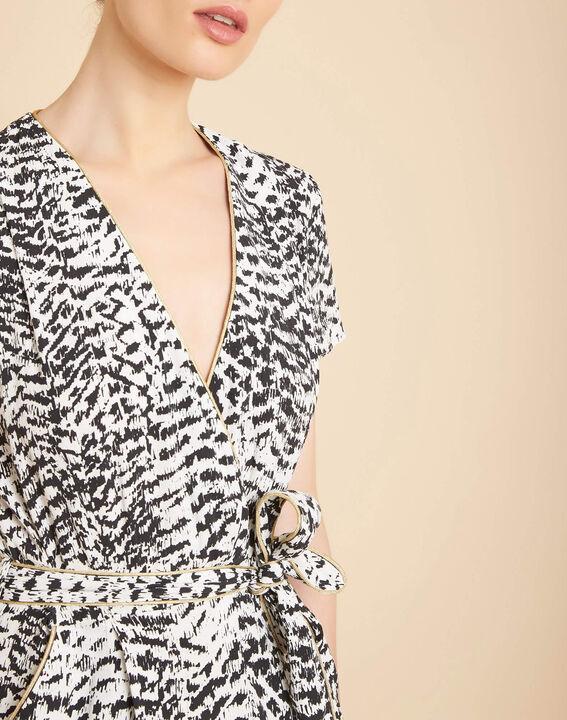 Robe noir et blanc imprimée Panthere PhotoZ   1-2-3
