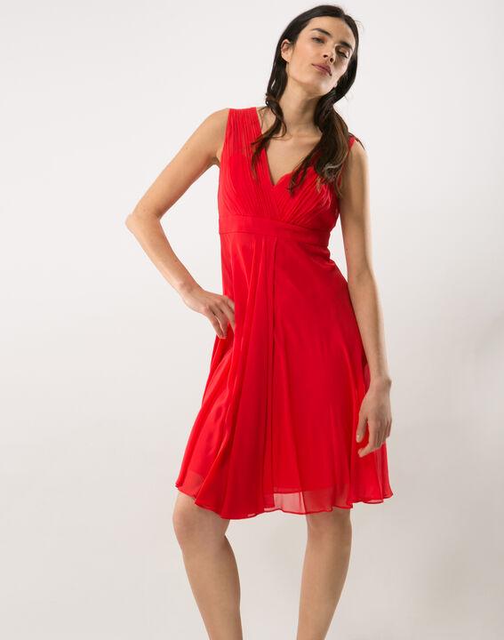 Robe rouge en soie Loulou (2) - 1-2-3