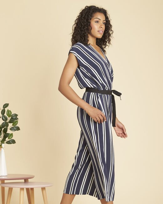 Prune navy striped jumpsuit (2) - 1-2-3