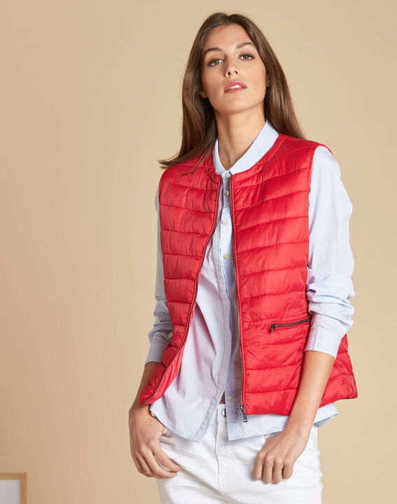 Yvana fine red sleeveless quilted jacket (3) - 1-2-3
