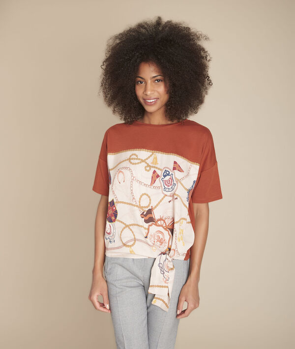 Tee-shirt acajou imprimé Chantilly PhotoZ | 1-2-3