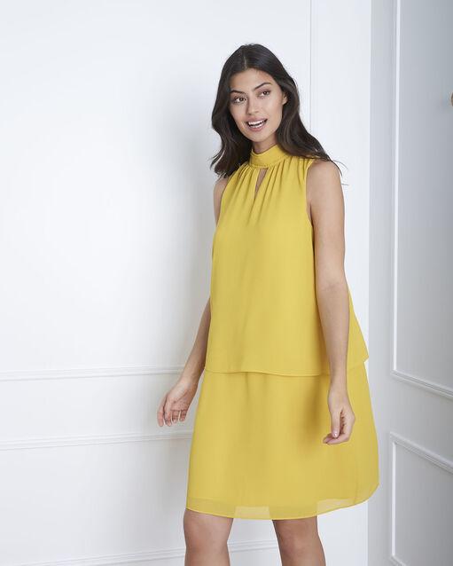 353773cbfea0 Robe jaune col montant Heloise (1) - Maison 123
