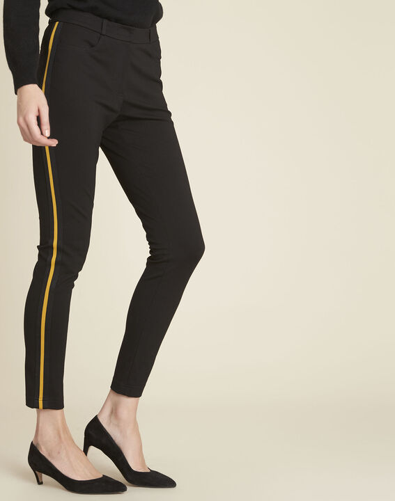 Helga black milano trousers with grosgrain band PhotoZ | 1-2-3