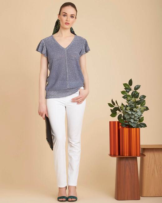 Weiße 7/8-Slim-Fit-Jeans Vendome (1) - 1-2-3