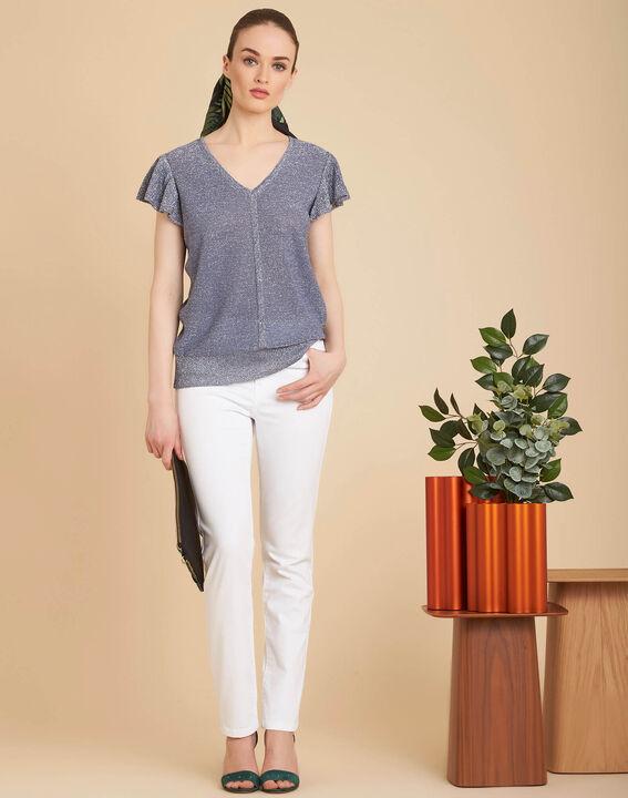 Weiße 7/8-Slim-Fit-Jeans Vendome (2) - 1-2-3