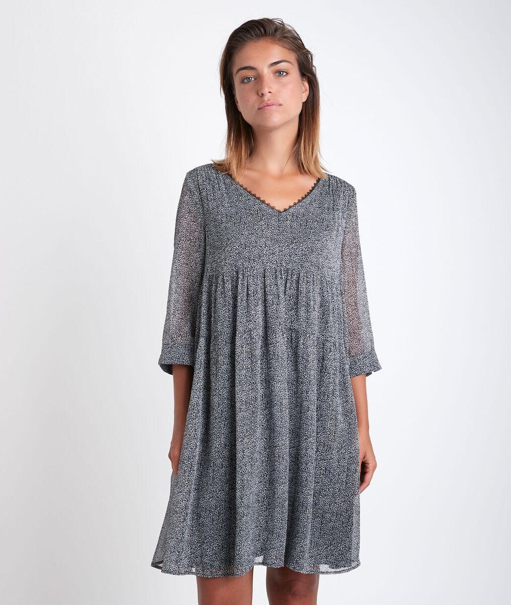 Robe imprimée lurex Noce PhotoZ | 1-2-3