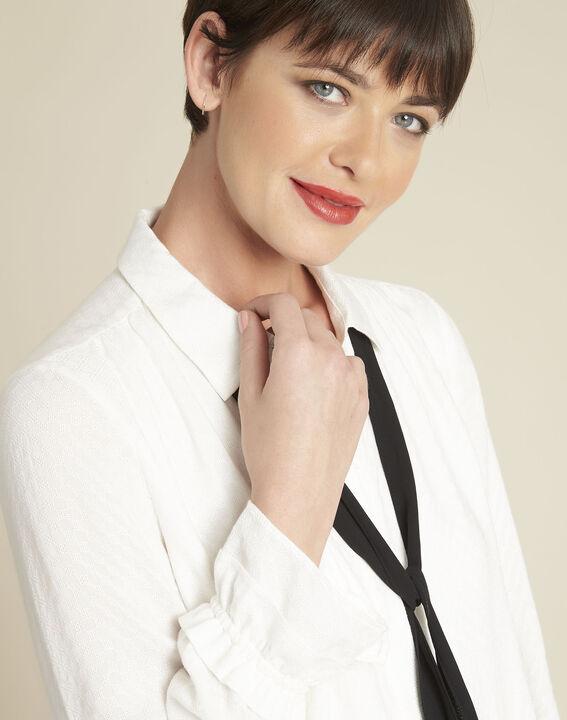 Calia ecru blouse with tie (3) - 1-2-3