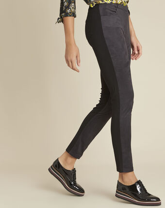 Handy black slim-cut trousers black.