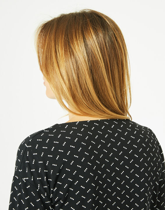 Tee-shirt noir à pois Bruna (4) - 1-2-3