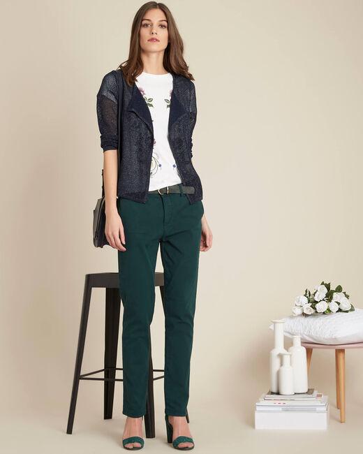 Pantalon vert foncé chino Jacob (1) - 1-2-3