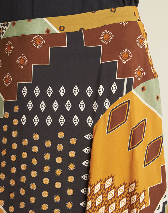 Arome long printed patchwork skirt (3) - Maison 123