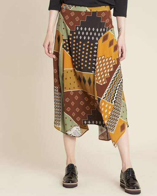 Arome long printed patchwork skirt (2) - 1-2-3