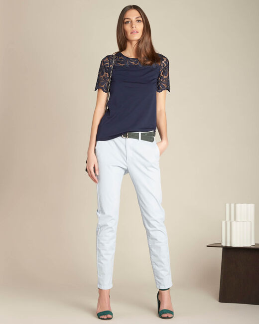 Pantalon bleu ciel chino Valentin (1) - 1-2-3
