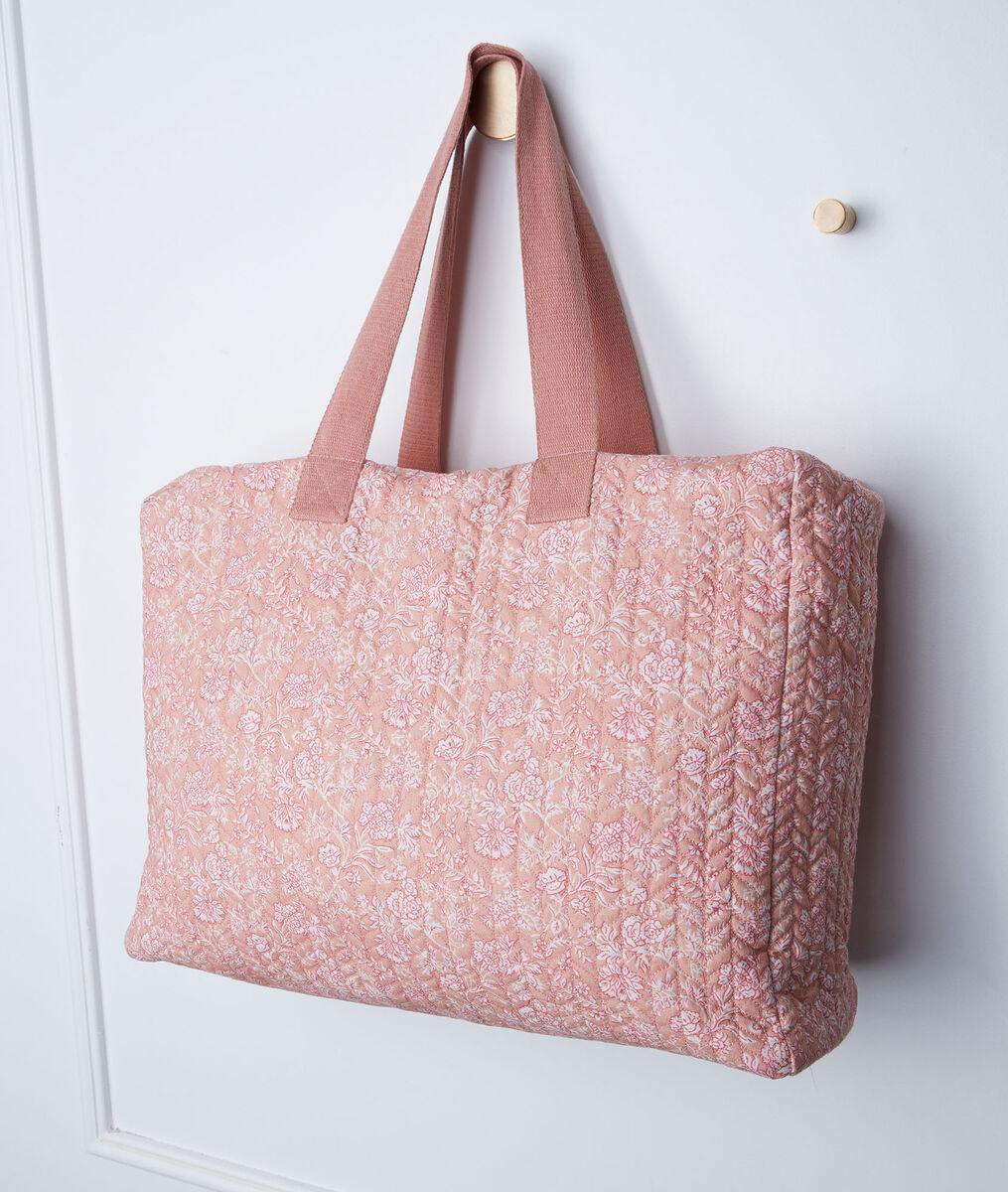 Cabas en coton rose imprimé Daryl PhotoZ | 1-2-3
