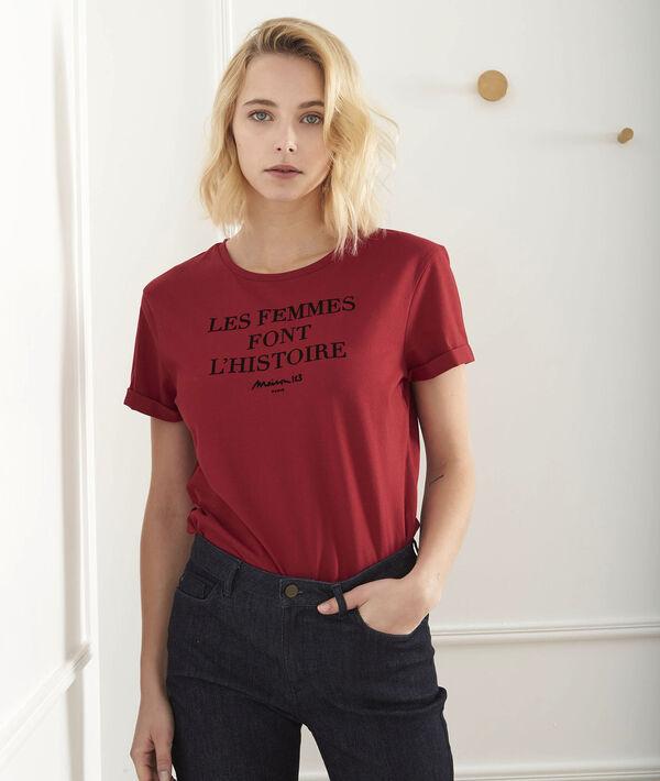 Tee-shirt rouge message Proud PhotoZ | 1-2-3
