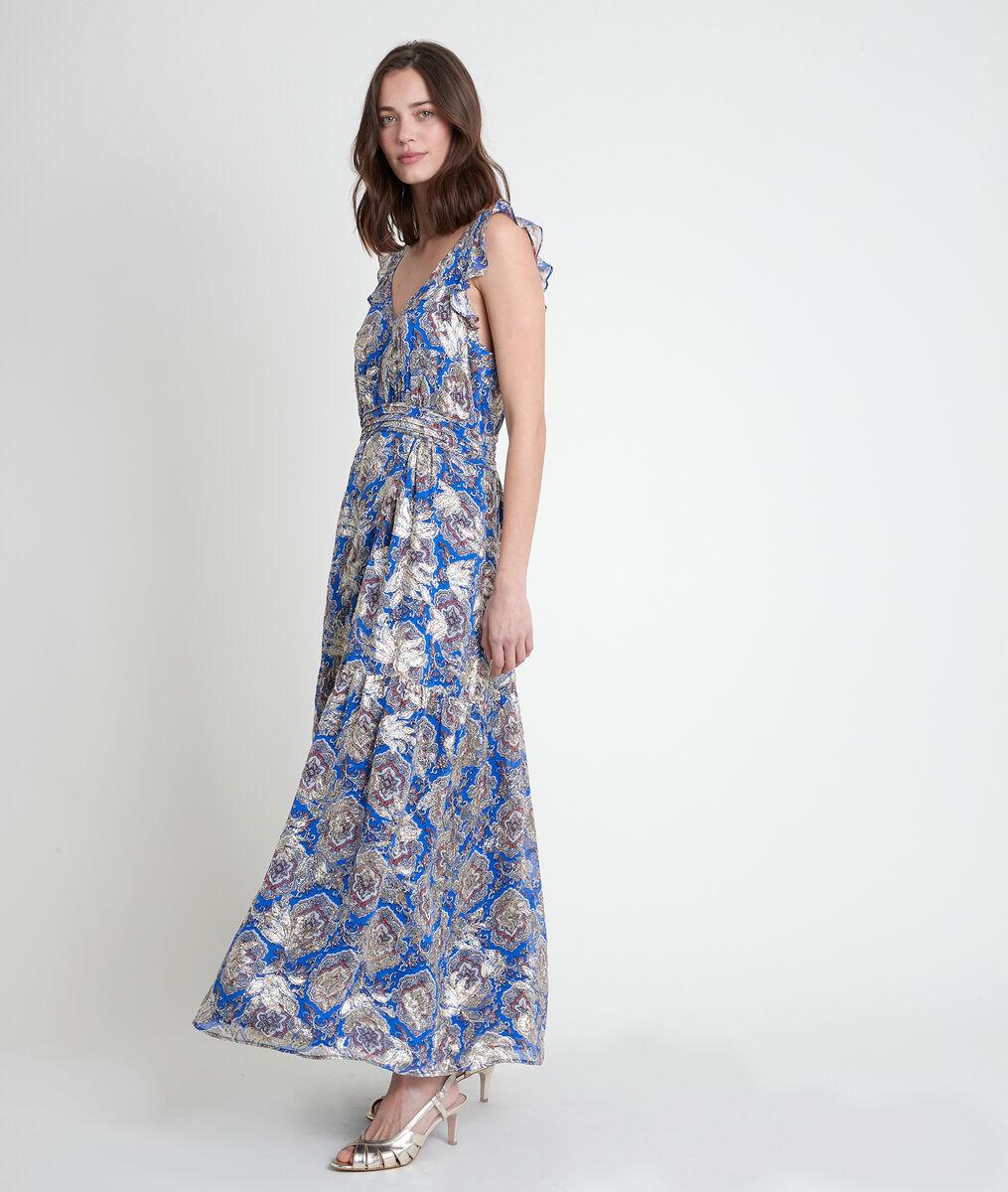 Langes Kleid mit Lurex-Print Marie PhotoZ | 1-2-3