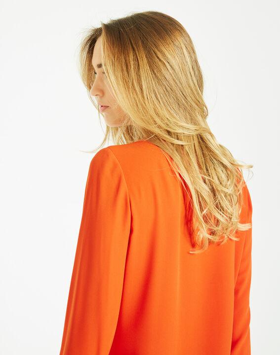 Blouse orange manches longues Doris (3) - 1-2-3