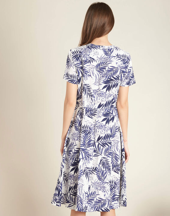Palmire blue printed linen dress (4) - 1-2-3