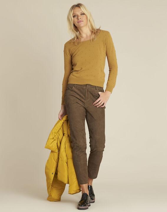 Gele trui met ronde hals van gemengd wol Beebop (2) - 37653