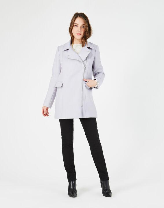 Manteau gris perle en laine mélangée Oryanne PhotoZ | 1-2-3