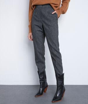 Pantalon de tailleur gris chiné Darcy
