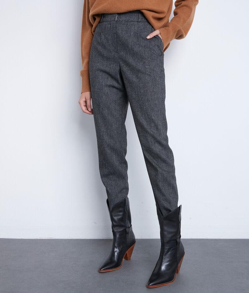 Pantalon de tailleur gris chiné Darcy PhotoZ | 1-2-3