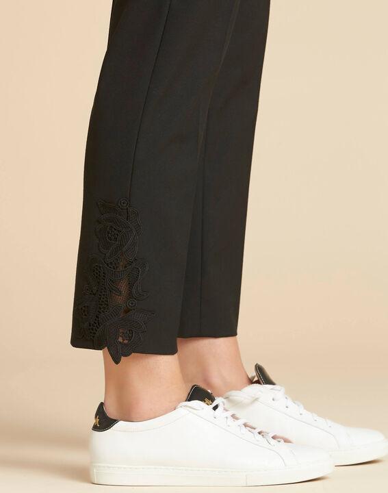 Pantalon de tailleur à pinces détails dentelle Valero (1) - 1-2-3