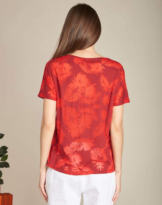 Rotes T-Shirt mit Palmenprint Eflore (4) - 1-2-3