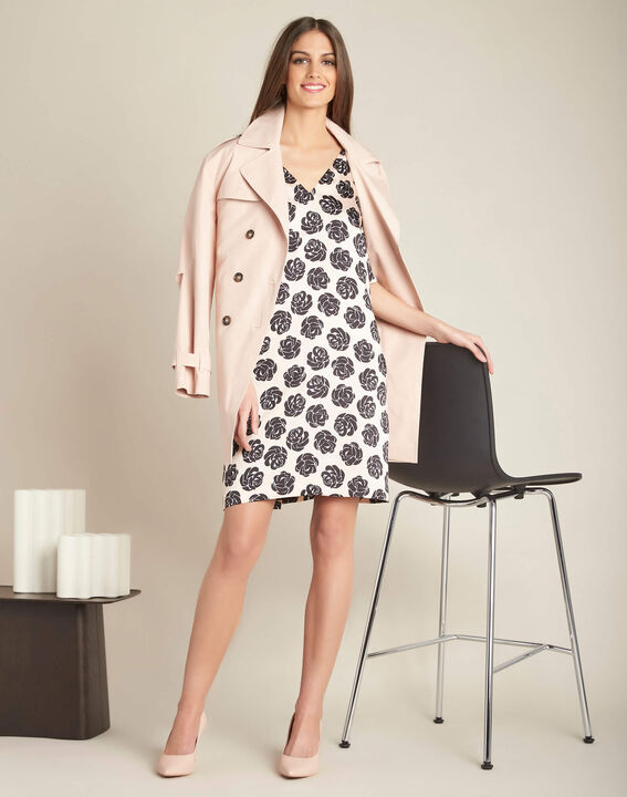 Klaudine double-breasted pink trench coat (2) - 1-2-3