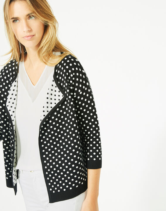 Parade black and white knitted jacket with polka dots (4) - 1-2-3
