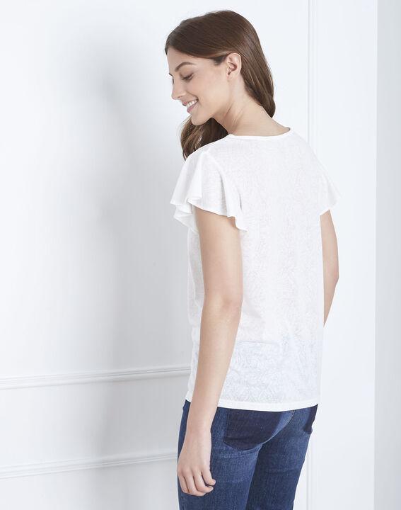 Tee-shirt écru à volants Palma (4) - Maison 123