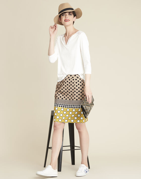 Kurtys yellow polka dot printed skirt (2) - 1-2-3