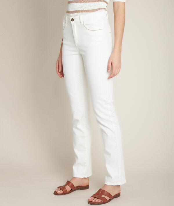 L'Original 123 : jean droit blanc Sonia  PhotoZ | 1-2-3