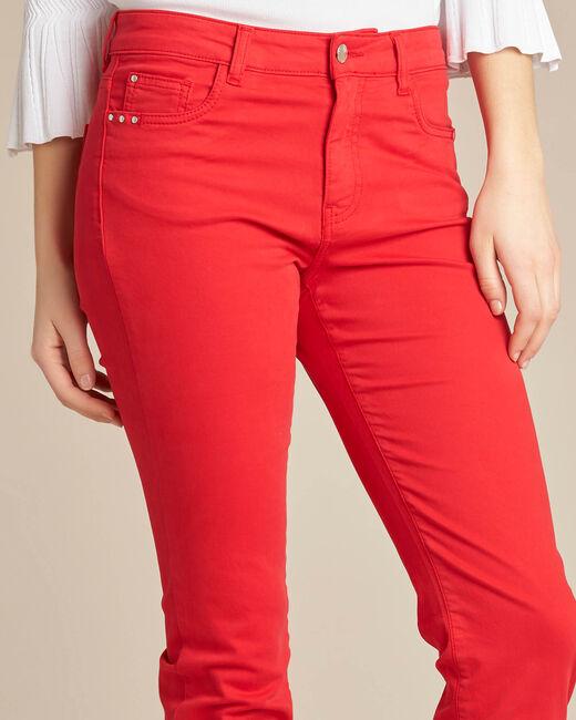 Rote 7/8 Slim-Fit-Jeans normale Leibhöhe Vendôme (1) - 1-2-3