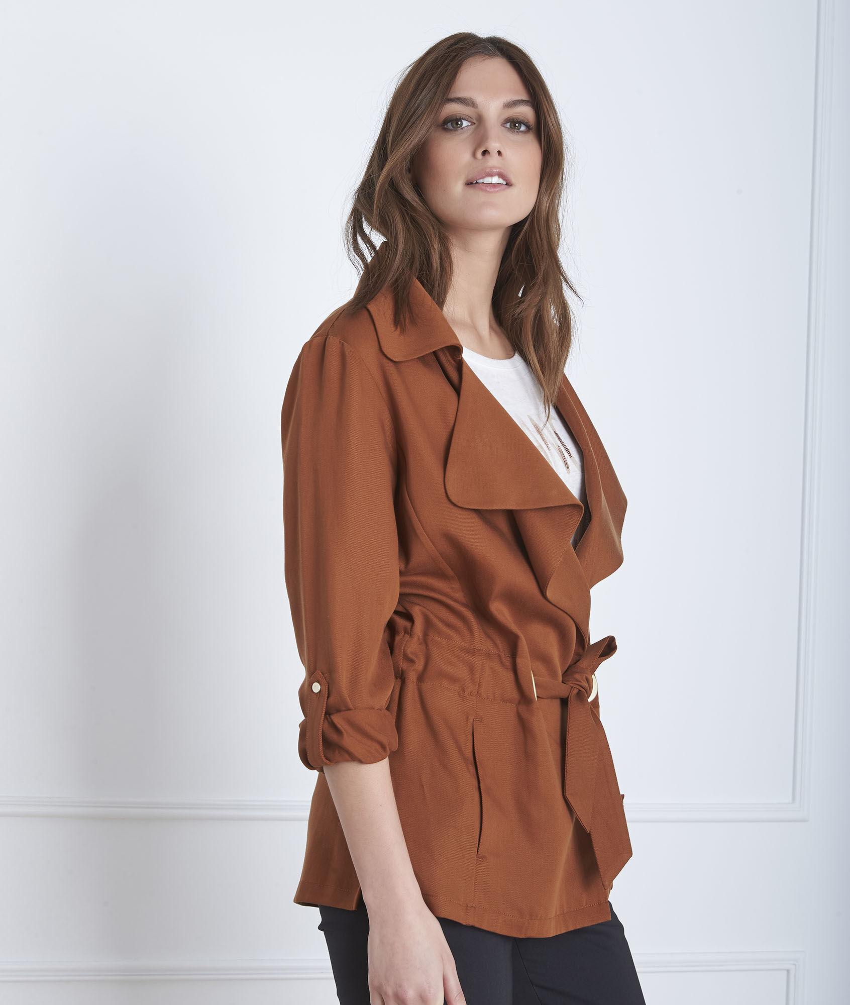Tailleur femme veste longue