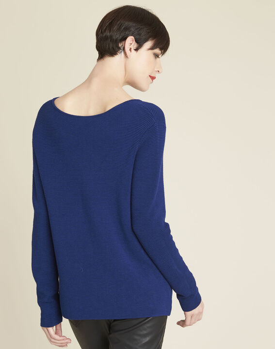 Blandine sapphire pullover with pocket details (4) - 1-2-3