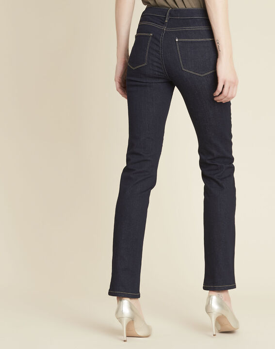 Vendôme 7/8 length navy blue jeans with zipped detailing (4) - 1-2-3