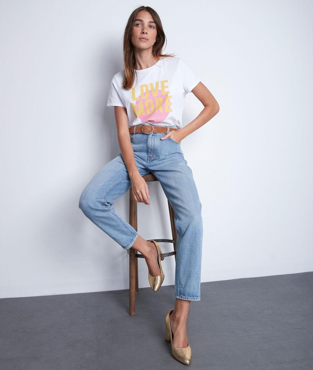 De lovely mum jeans pure bleached Solene PhotoZ | 1-2-3