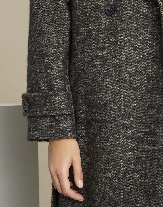 Manteau gris chiné en laine mélangée Elaine (3) - 1-2-3