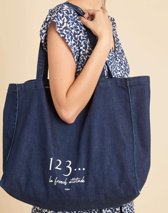 Tote bag marine effet denim Diva PhotoZ | 1-2-3