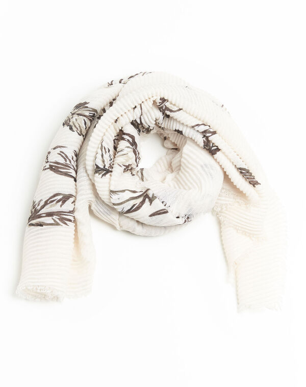 Nude sjaal met print Flute (2) - 37653