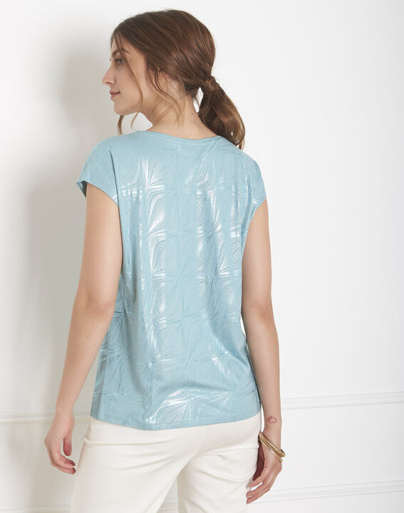 Tee-shirt bleu imprimé brillant Party (4) - Maison 123