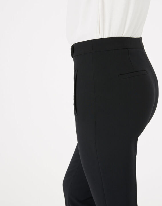 Lara microfibre black slim-cut trousers. (5) - 1-2-3