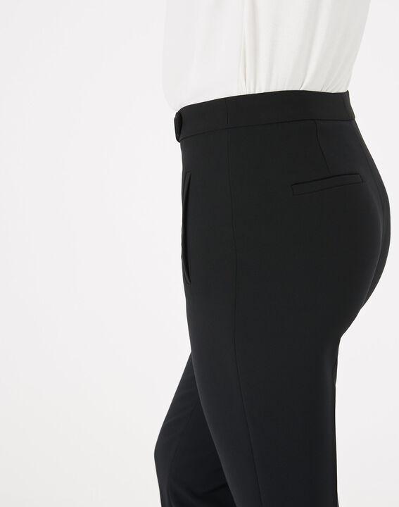 Lara microfibre black slim-cut trousers. (5) - 1-2-3