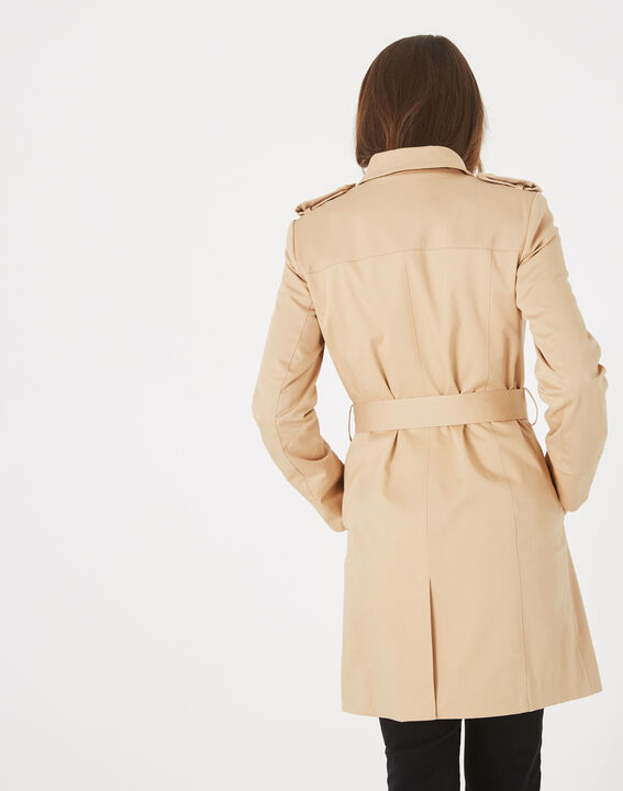 Trench beige mi-long Julie (5) - 1-2-3