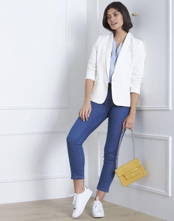 Hemelsblauwe linnen blouse Roma (2) - Maison 123