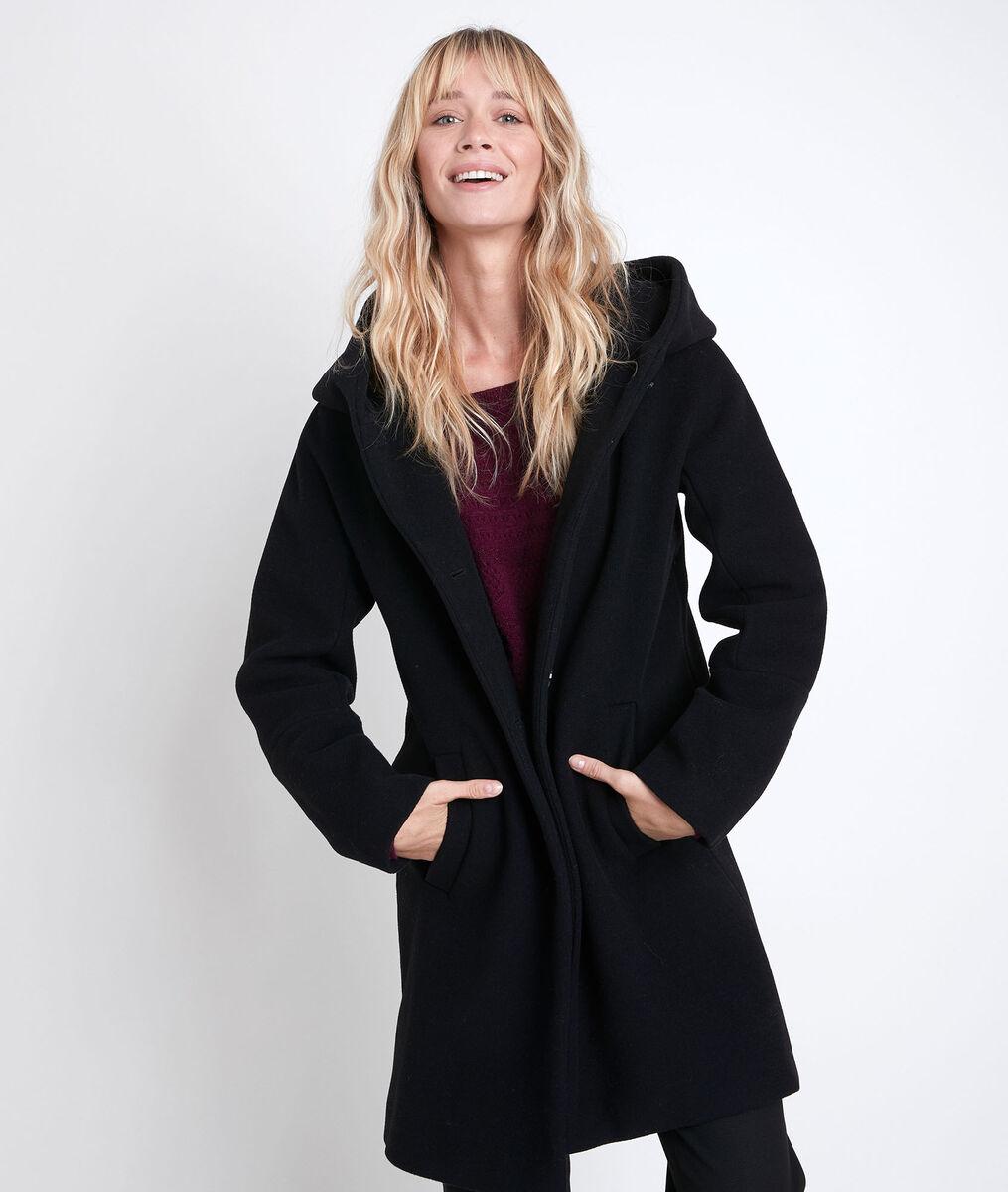 Manteau en laine mélangé noir Ocea PhotoZ | 1-2-3